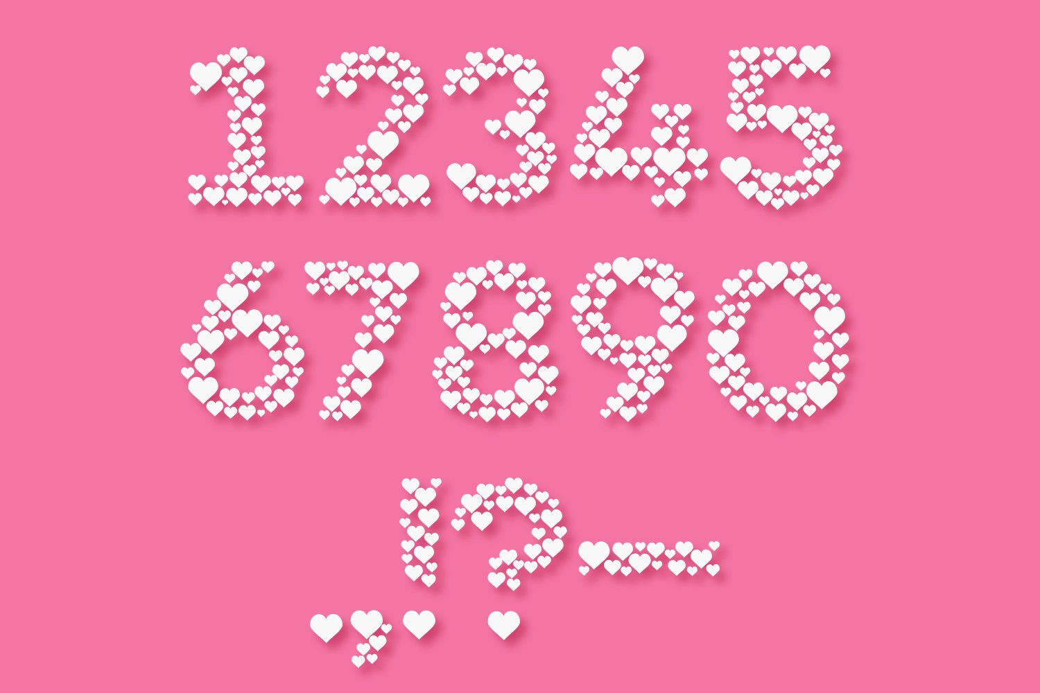 Countless Hearts | Love Craft Font example image 3