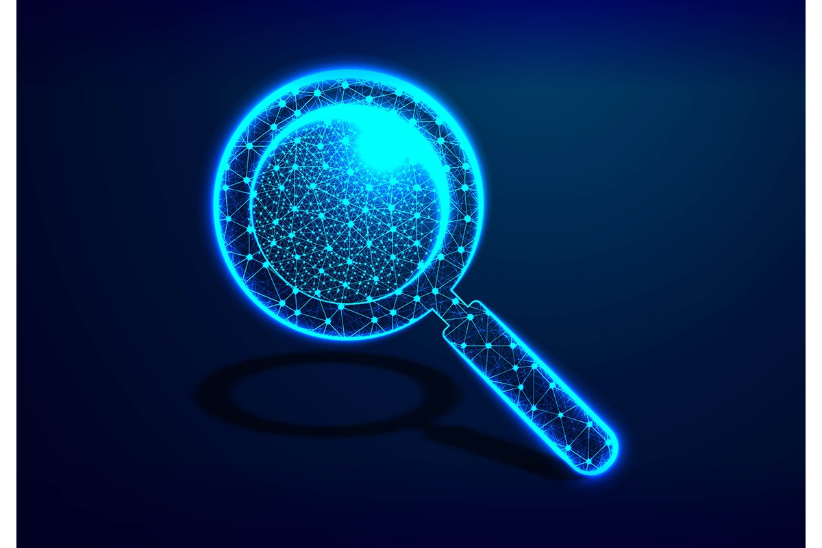 A magnifying glass, Analysis, Search symbol. Business, scien example image 1