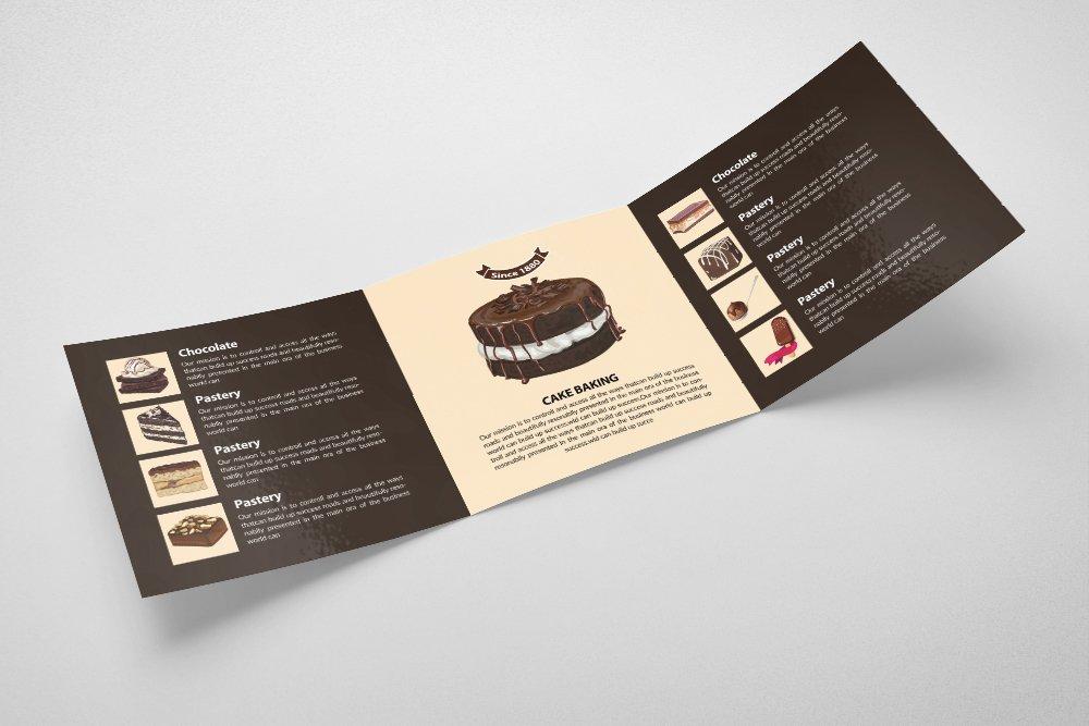 Ice Cream Square Trifold Brochure example image 2