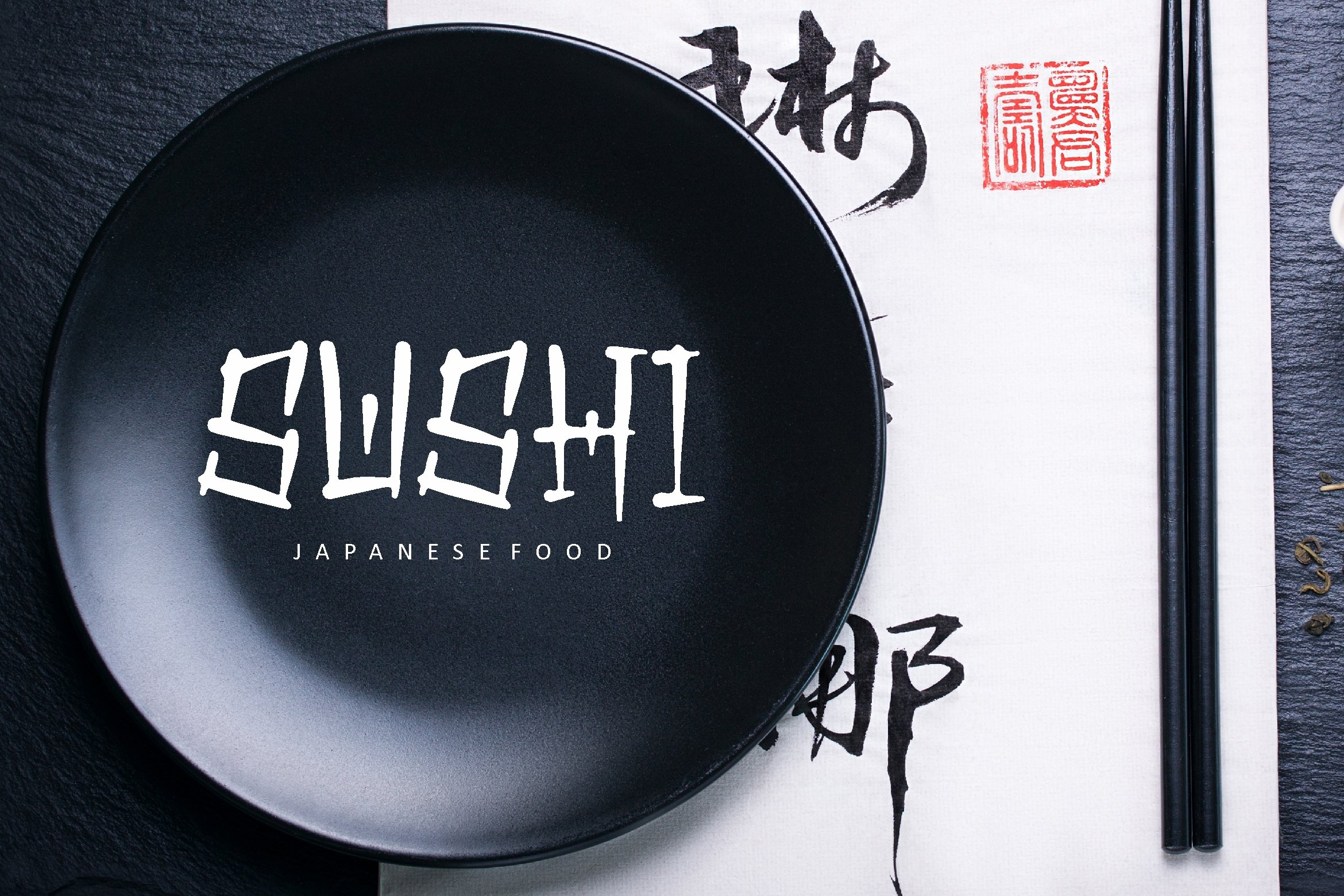 Qaishi - Japanese Display Font example image 4