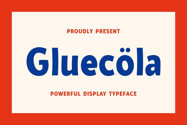 Gluecöla - Powerful Display Typeface example image 1