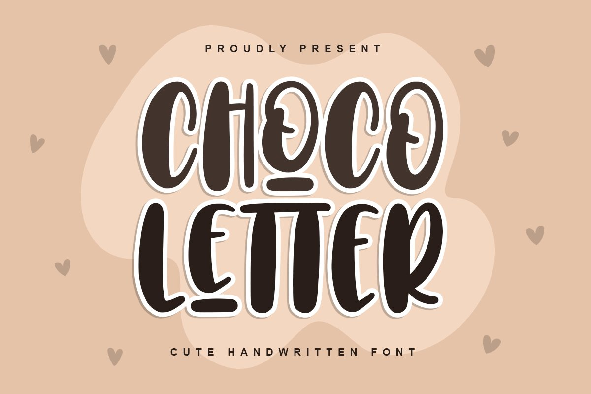 Choco Letters | Handwritten Font example image 1