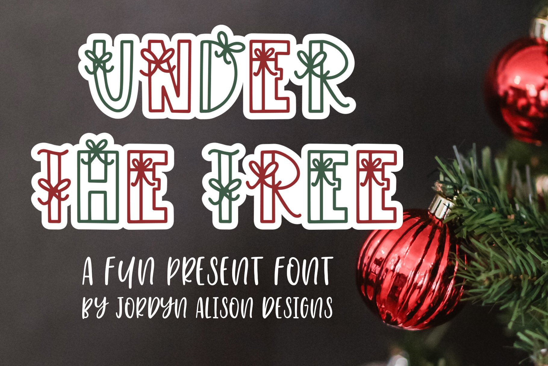 Under The Tree, Christmas Present Font example image 1