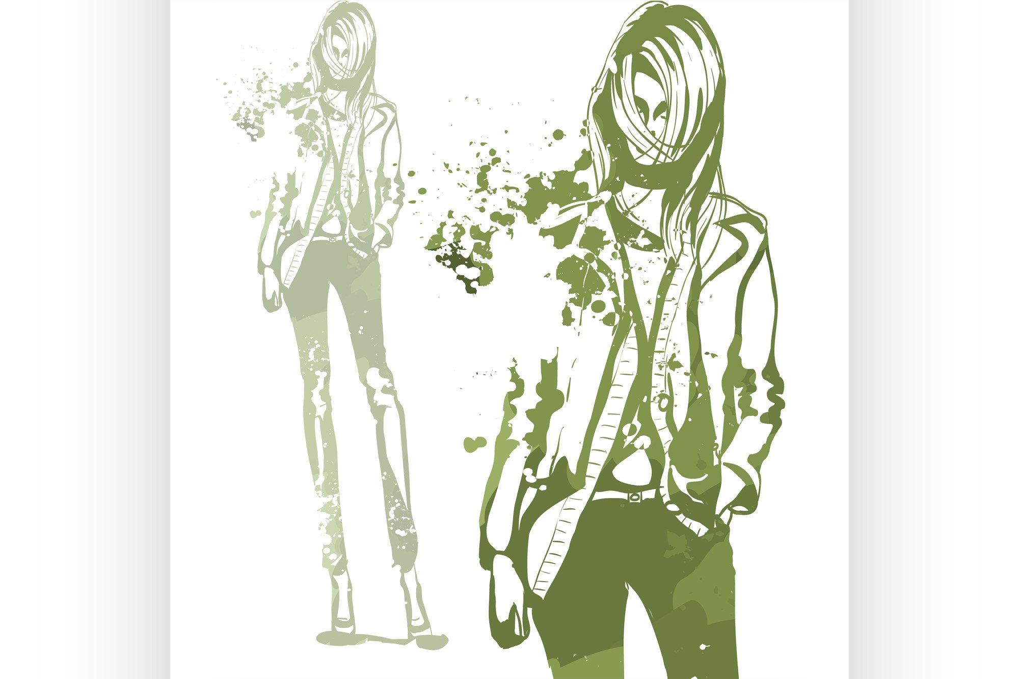 Portrait of trendy look girl example image 1