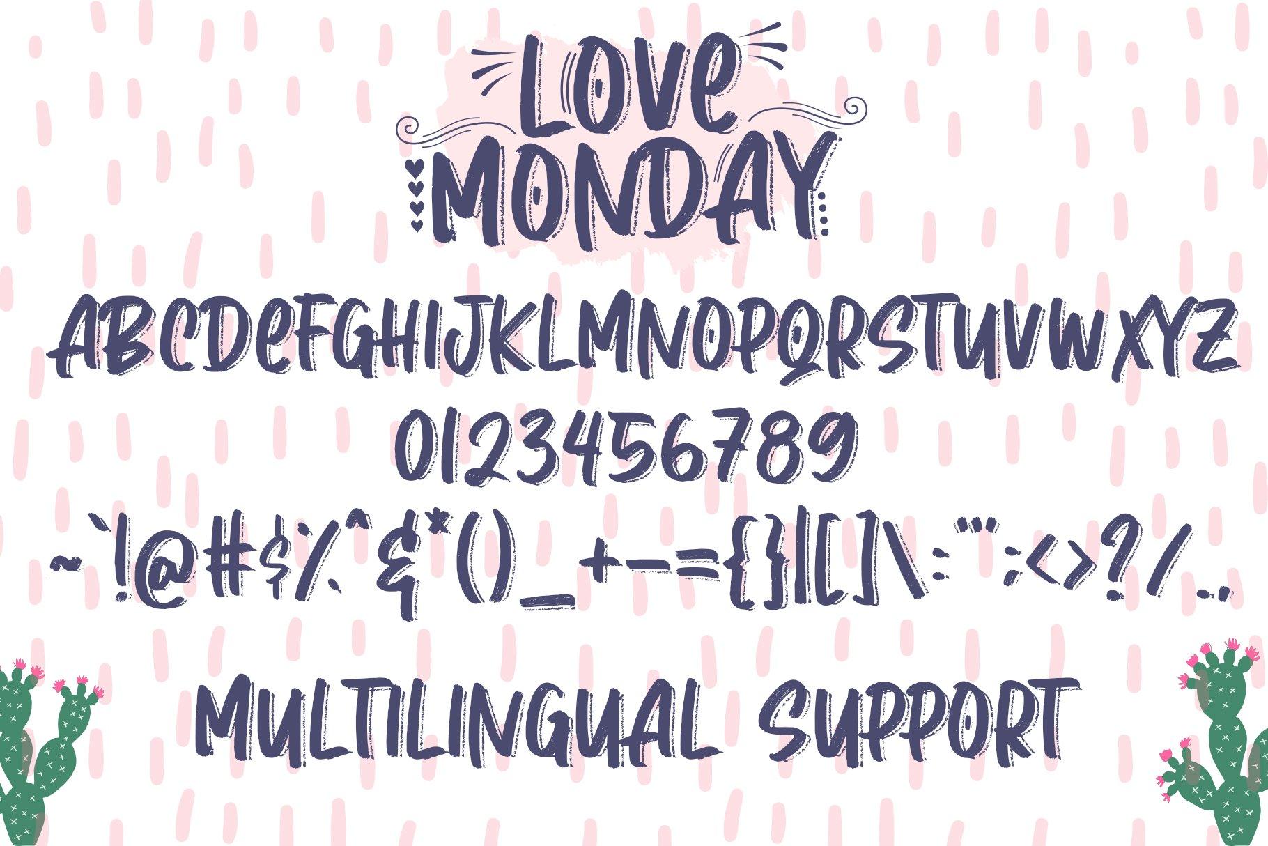 Love Monday - Brush Font example image 6