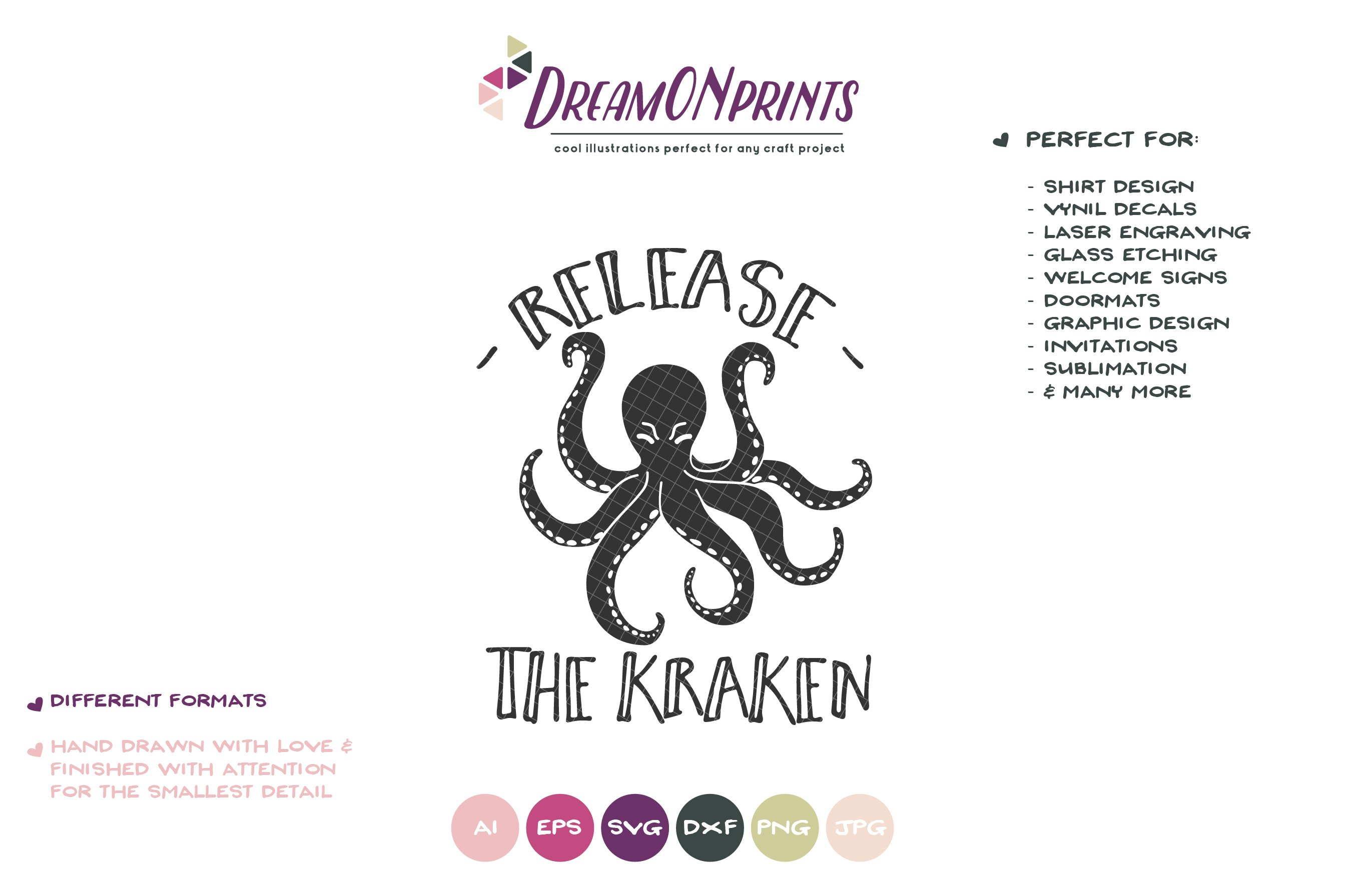 Octopus Svg Release The Kraken Svg Cut Files 251719 Cut Files Design Bundles