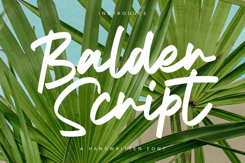 Balder Script Font example image 1