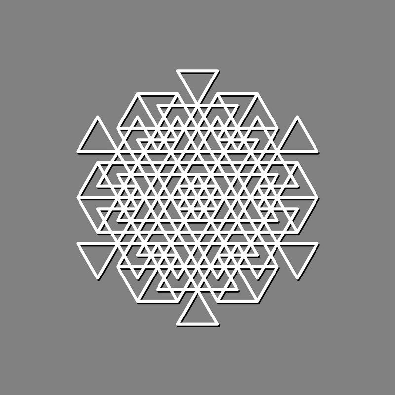 Geometric Decorative ORNAMENTS set. Mandala Stencil Design example image 7