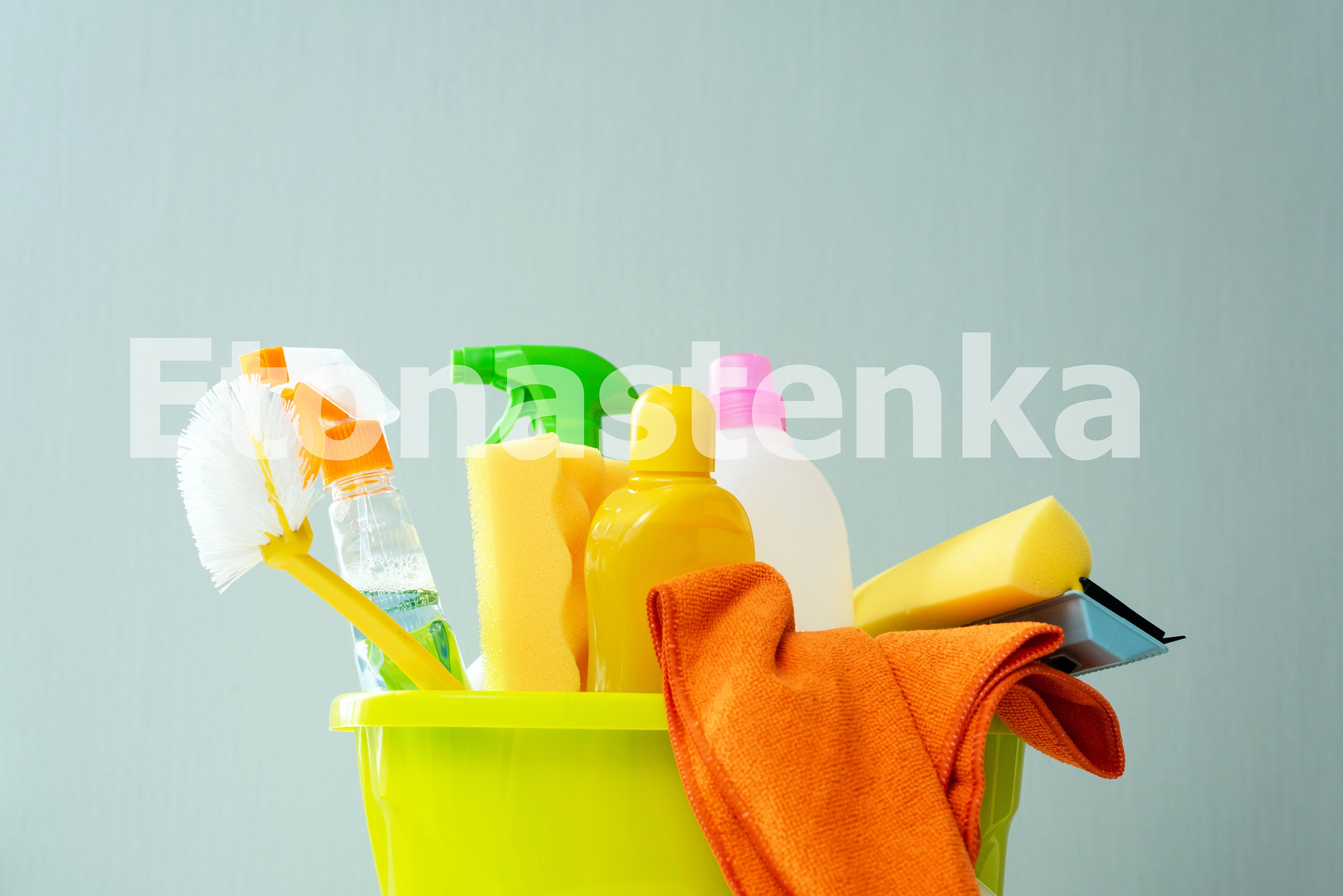 Spring cleaning. A young girl is cleaning her house. example image 6