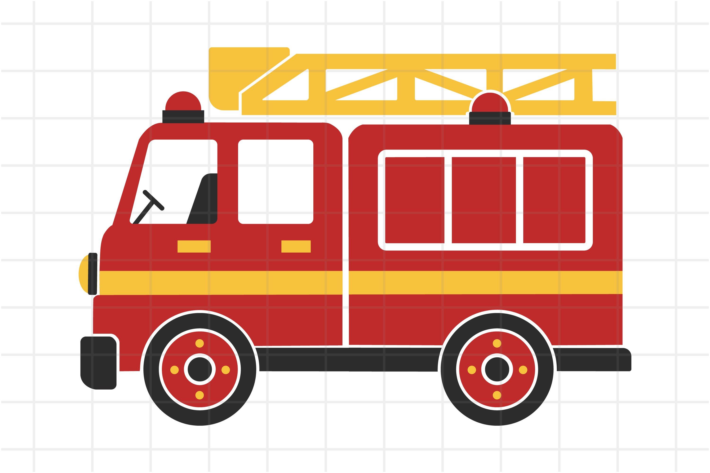 Fire Truck Cartoon Car For Kids Svg Cut File For Cricut 660659 Cut Files Design Bundles