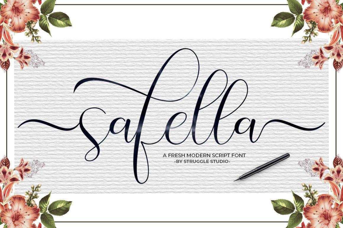 Safella - Modern Calligraphy example image 9