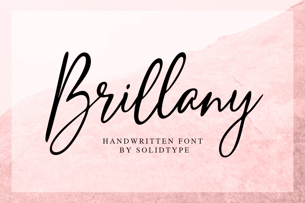Brillany - Handwritten Font example image 1