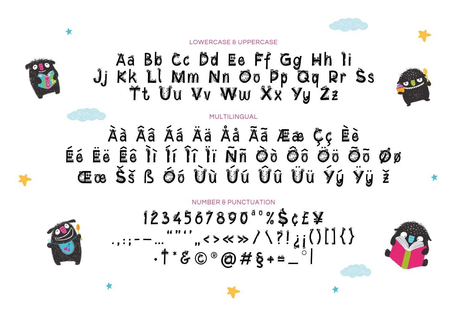 Little Monster - Playful Display Font example image 4
