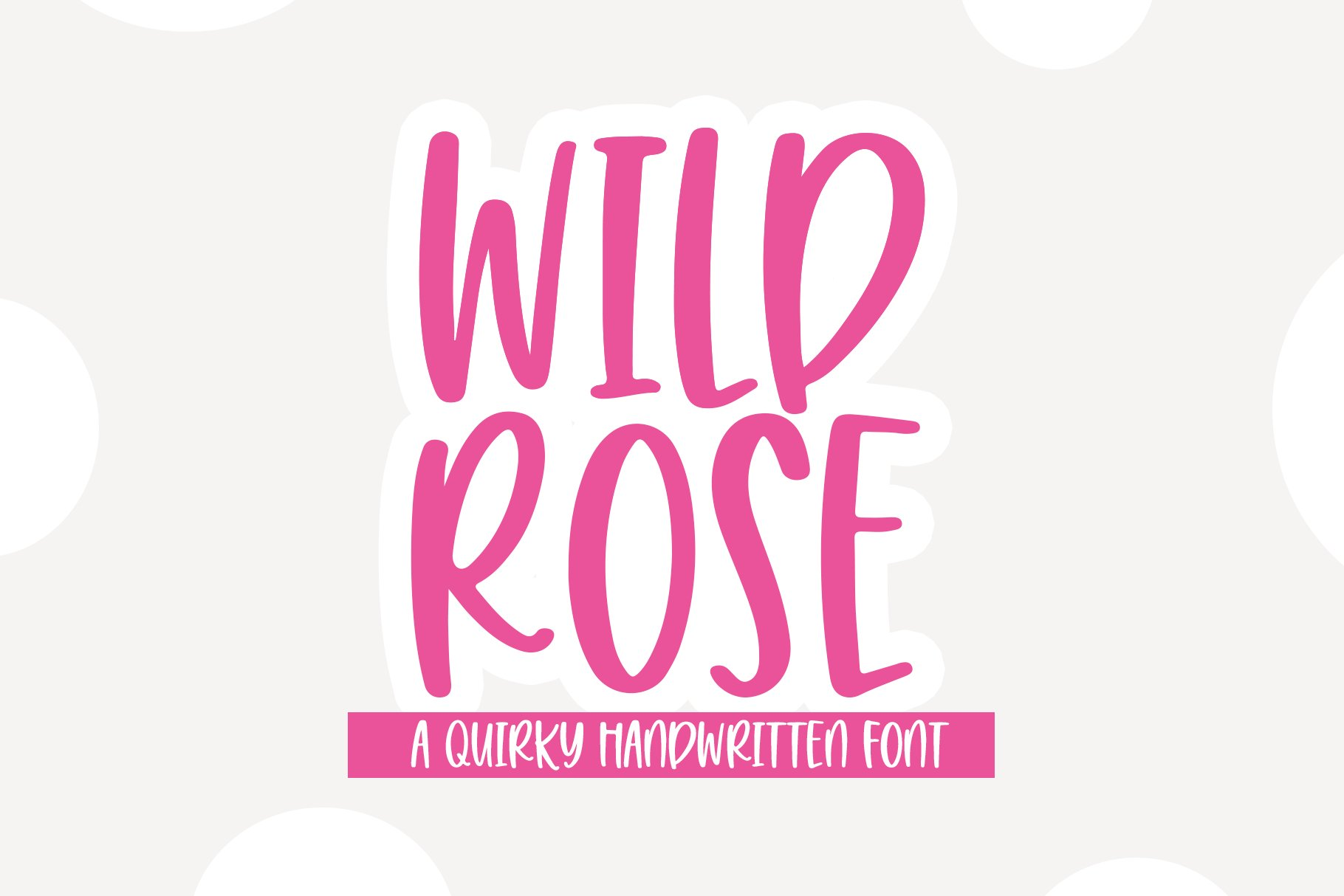 Wild Rose - A Quirky Handwritten Font example image 1