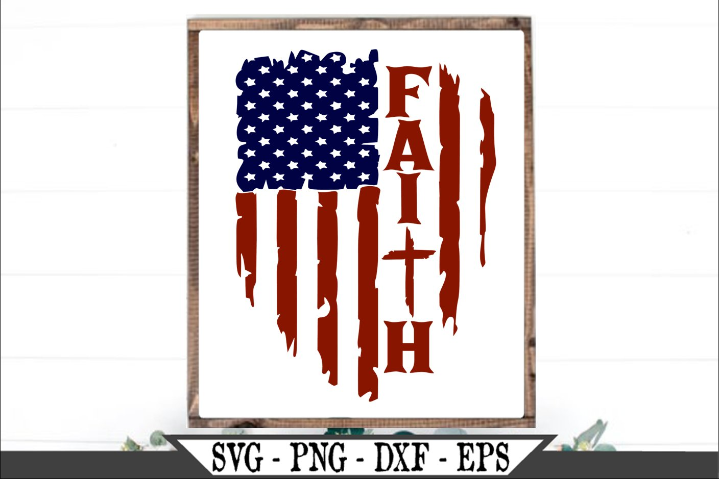 Distressed American Flag Faith With Christian Cross SVG (644359) | SVGs |  Design Bundles