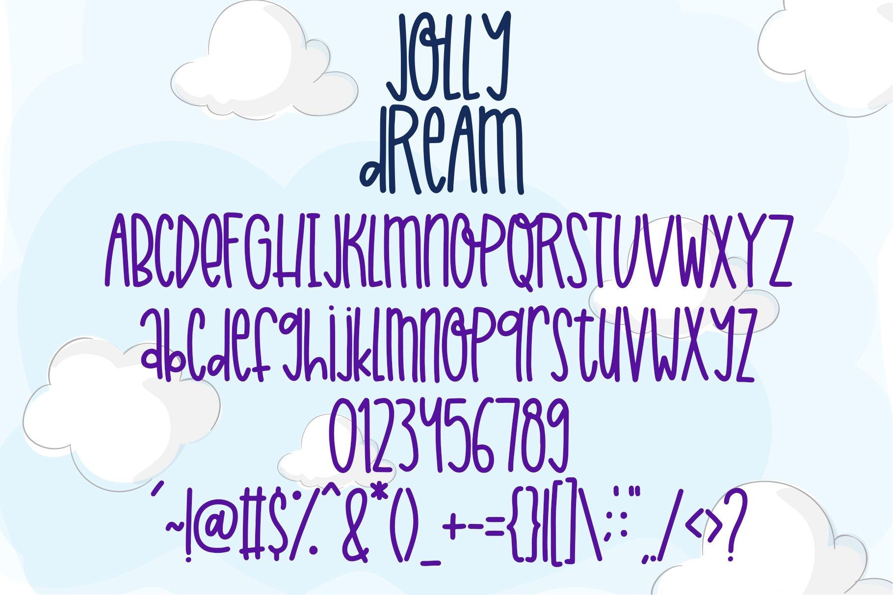 Jolly Dream - Skinny Handwritten Font example image 2