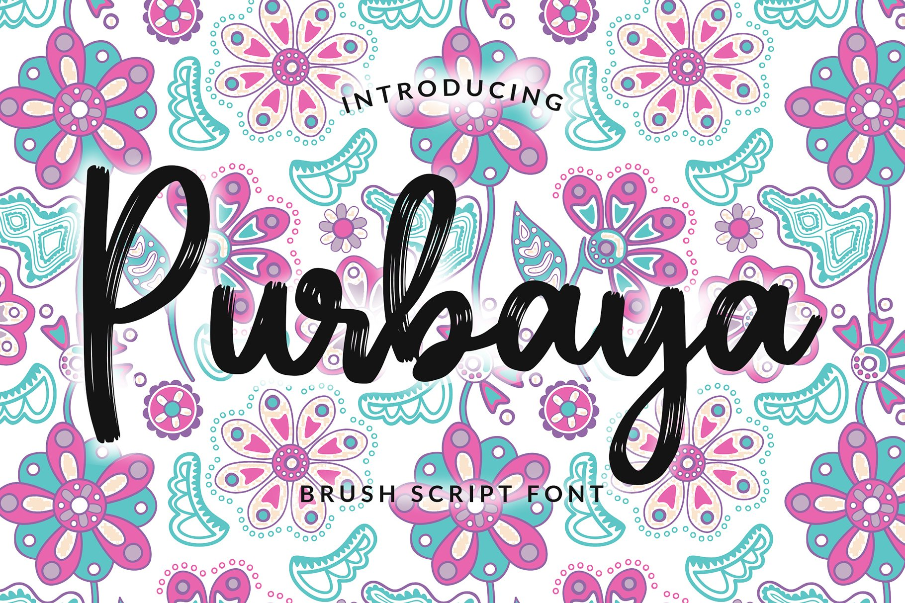 Purbaya Brush Script Typeface example image 1