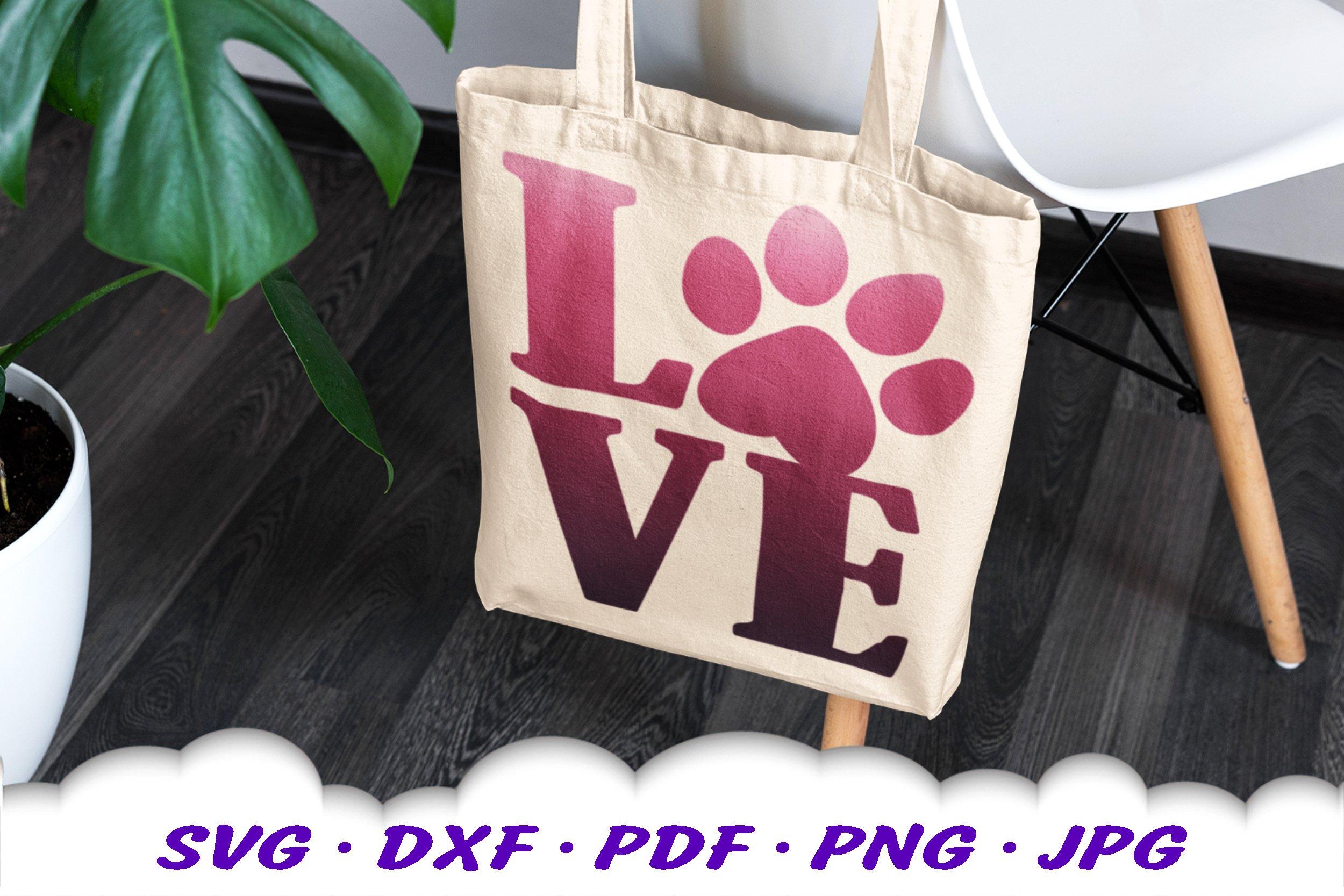 Dog Mom Paw Print Bundle SVG DXF Cut Files example image 8