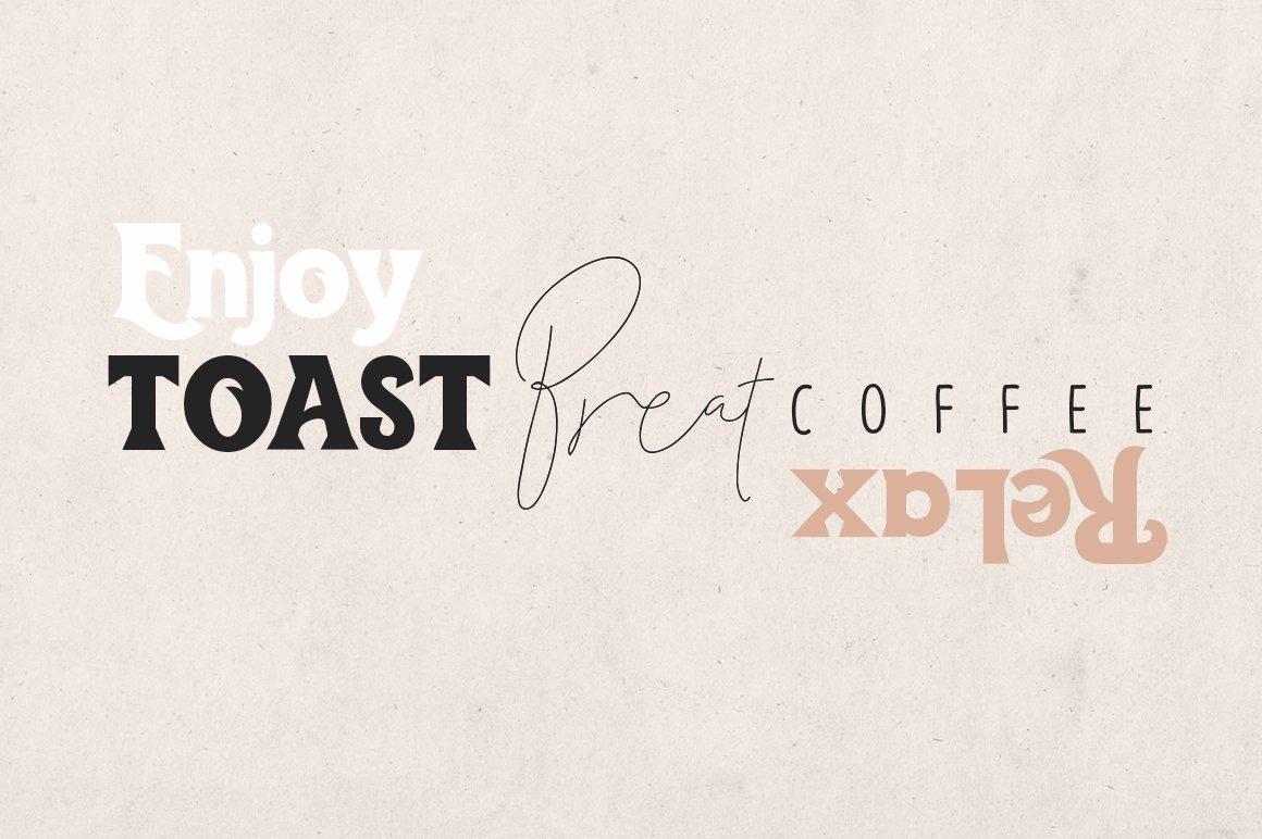Toast Bread Coffee Typeface example image 2