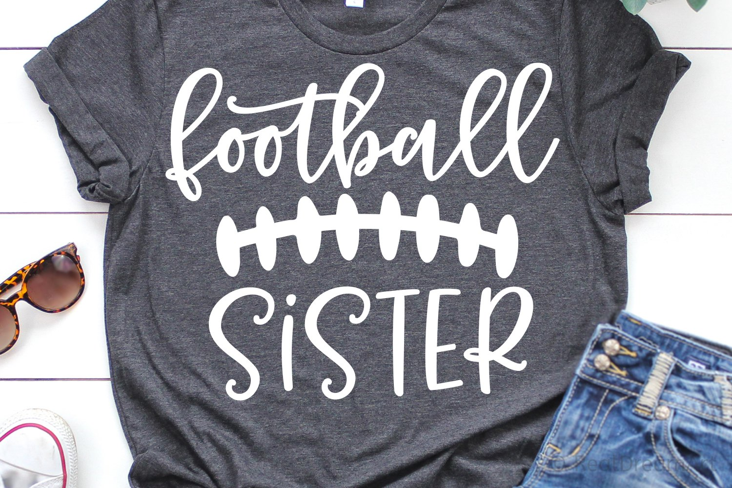 Football Sister Svg Dxf Png Eps Files For Cutting 324958 Svgs Design Bundles