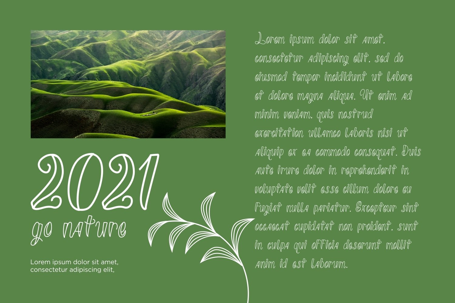 Sineture - Nature Display Font example image 5