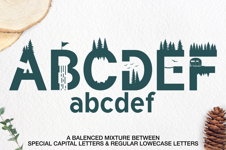 Qukle - Adventure Font - Wilderness Typeface example image 2