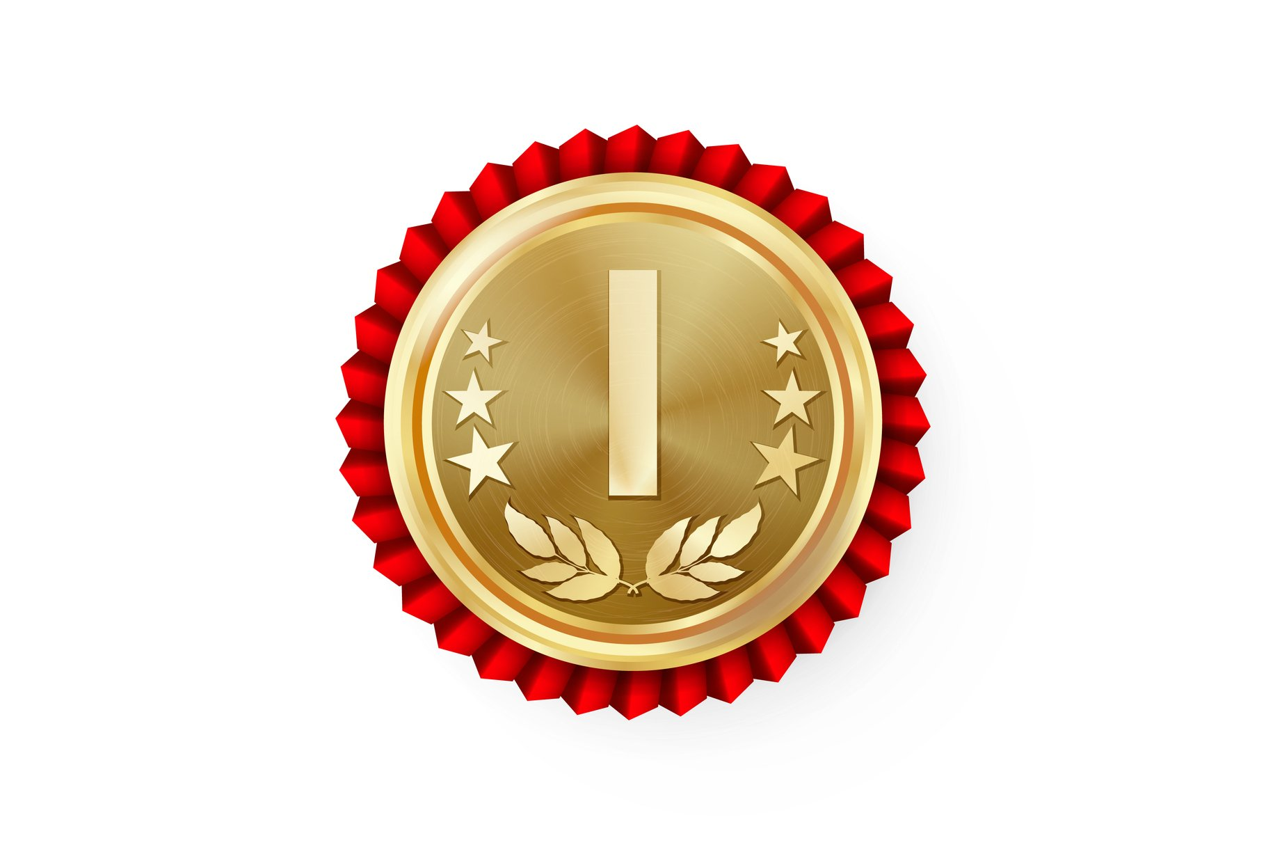 Gold 1st Place Rosette, Badge example image 1