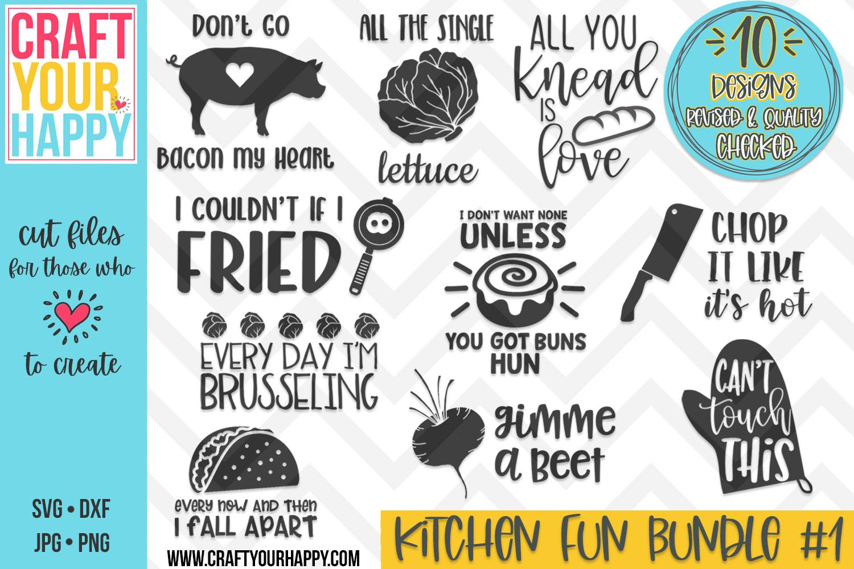 Revised Funny Kitchen Bundle Vol 1 An Svg Cut File Bundle 232218 Svgs Design Bundles