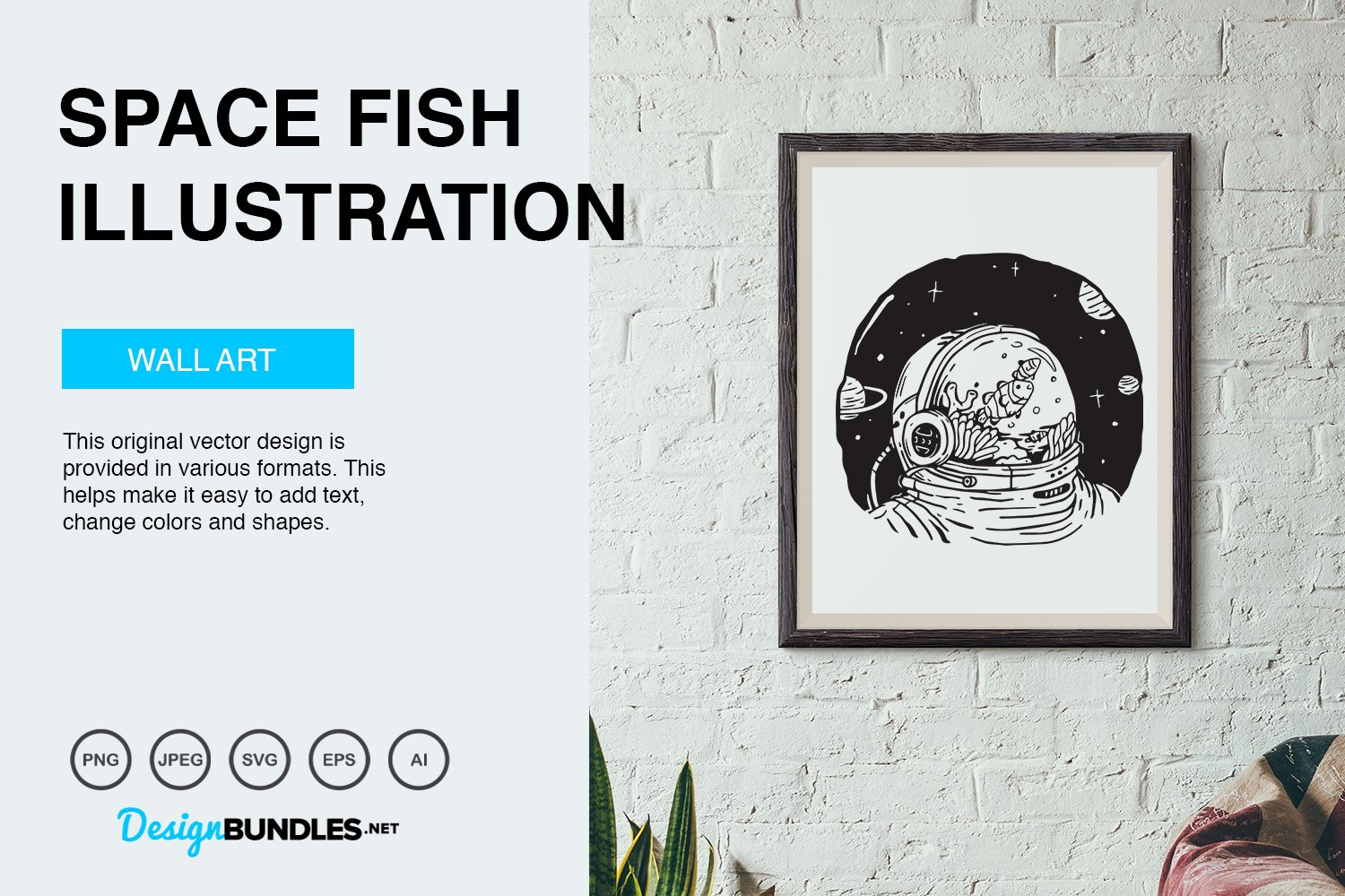 Space Fish Vector Illustration example image 2