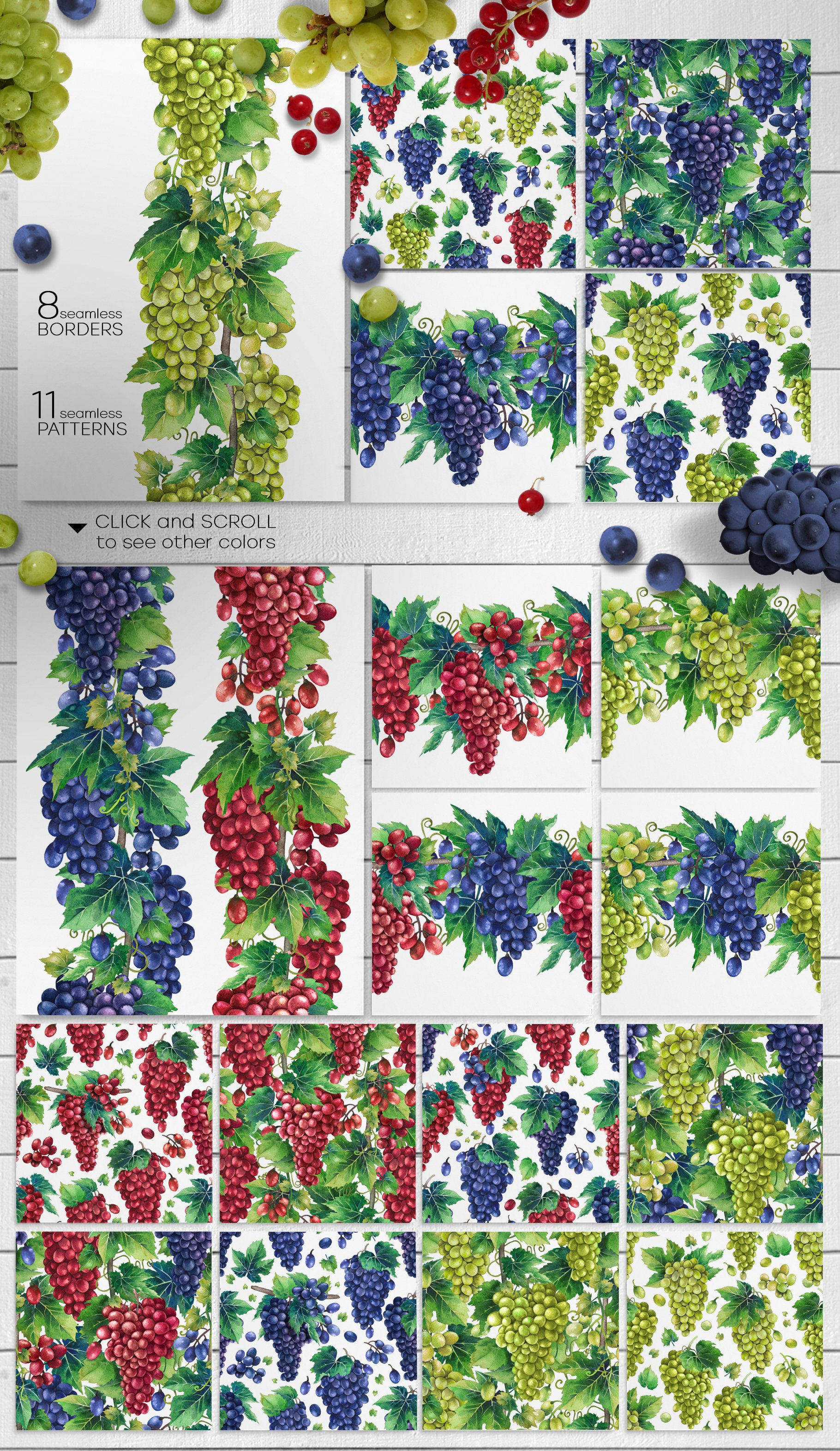 Watercolor Grapes example image 9