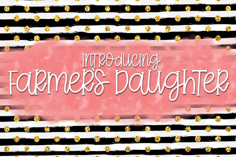 Farmer's Daughter - A Handwritten Font example image 1