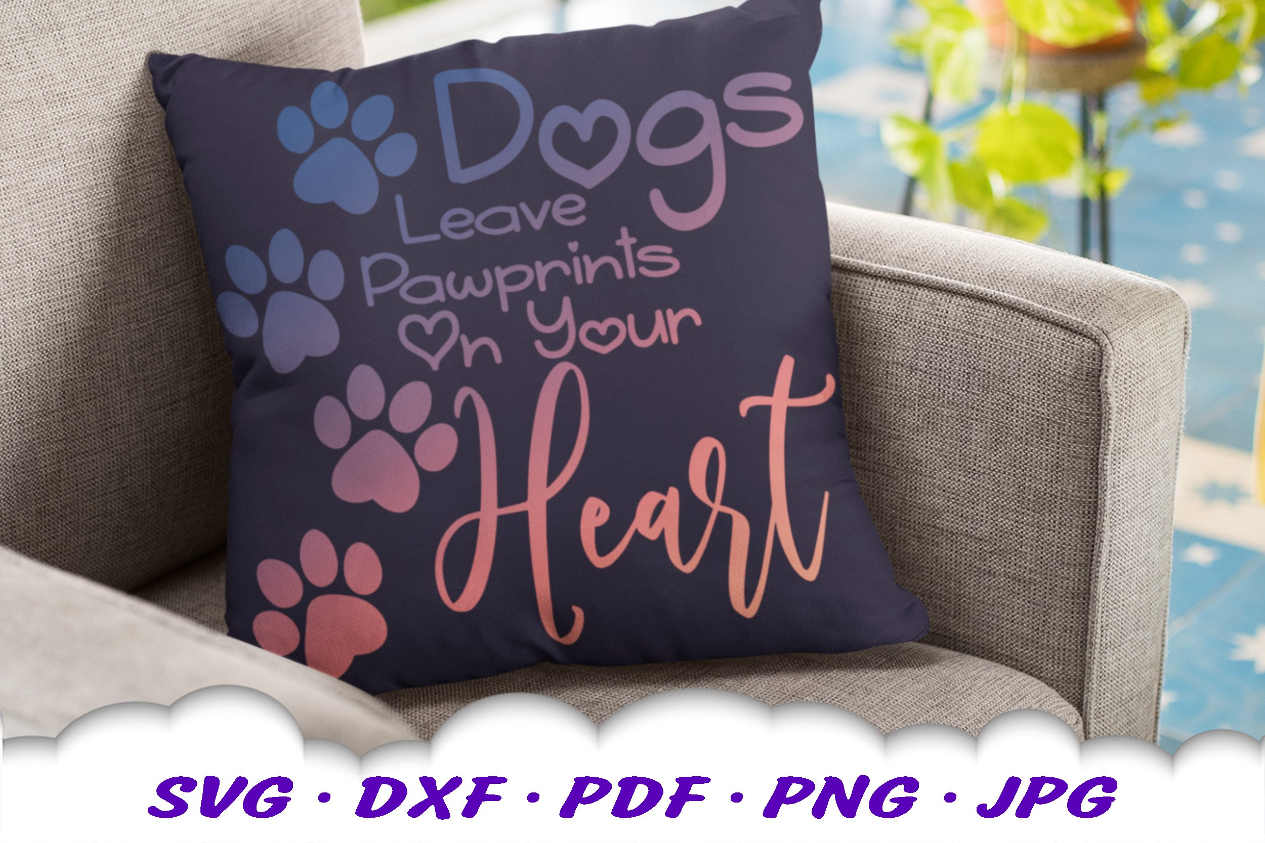 Dog Mom Paw Print Quote SVG DXF Cut Files example image 4