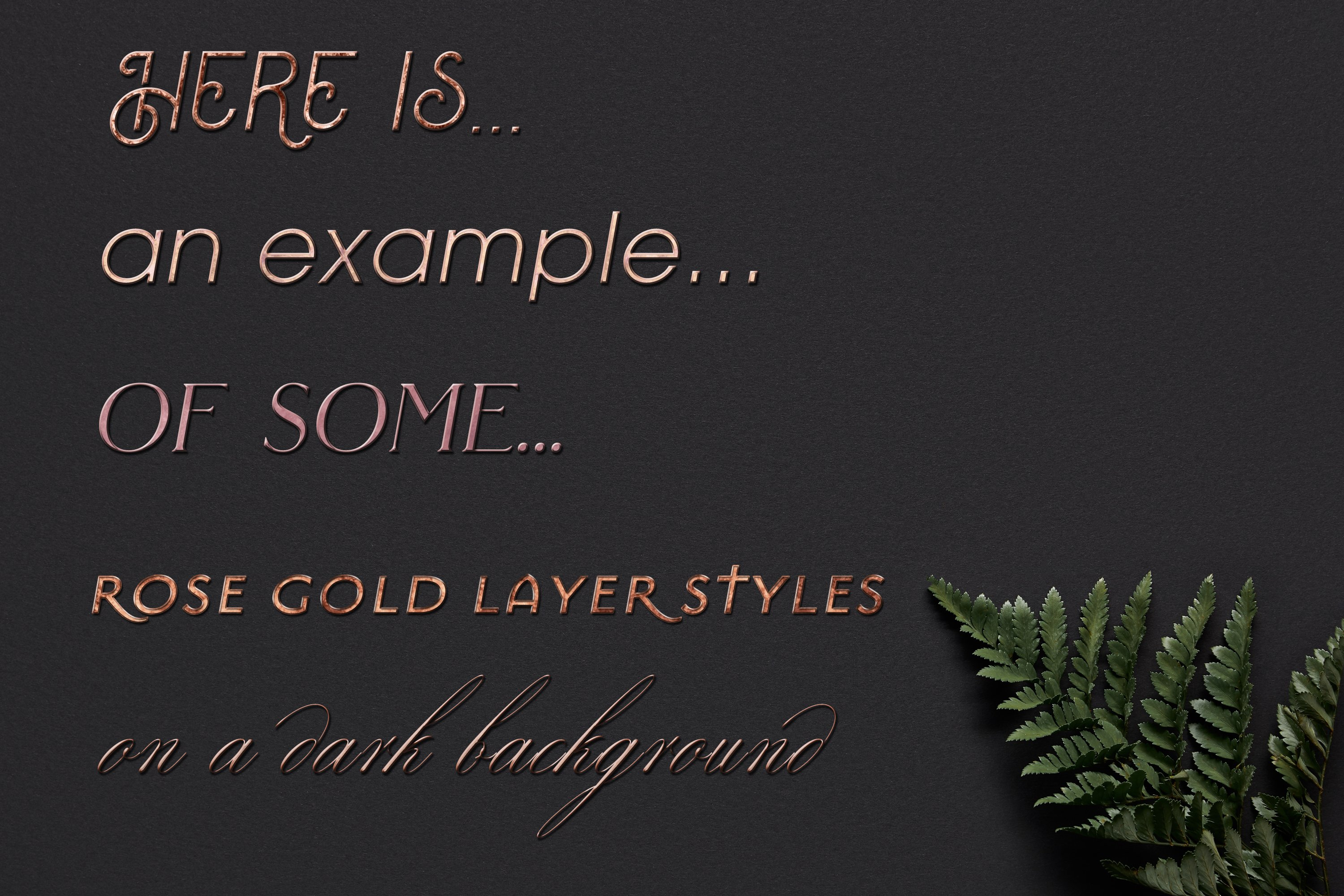 60 Layer Styles Bundle for Photoshop - Gold, Rose G, Silver example image 4