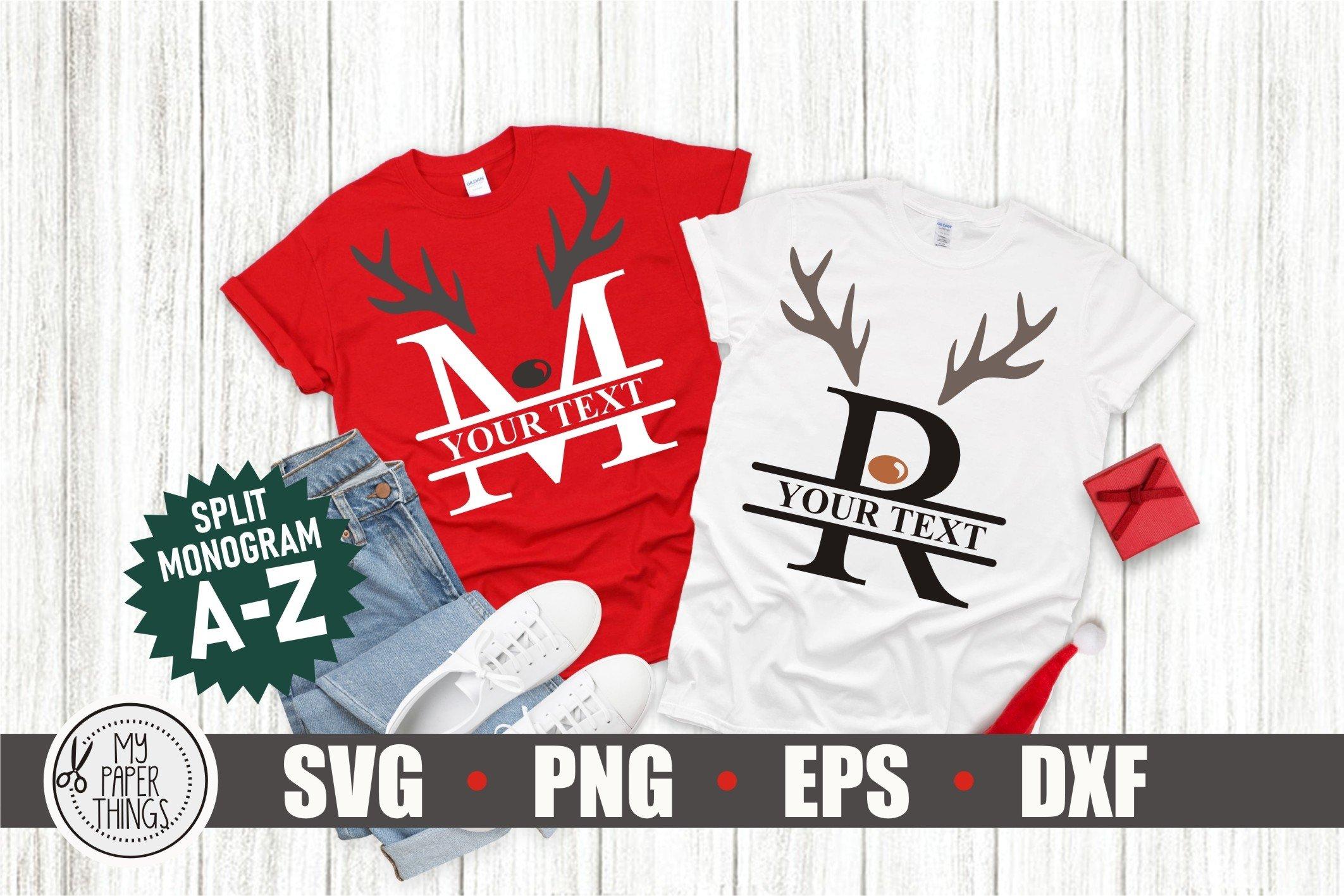 Download Christmas Split Monogram Alphabet Reindeer Letter Svg Bundle 1013551 Monograms Design Bundles