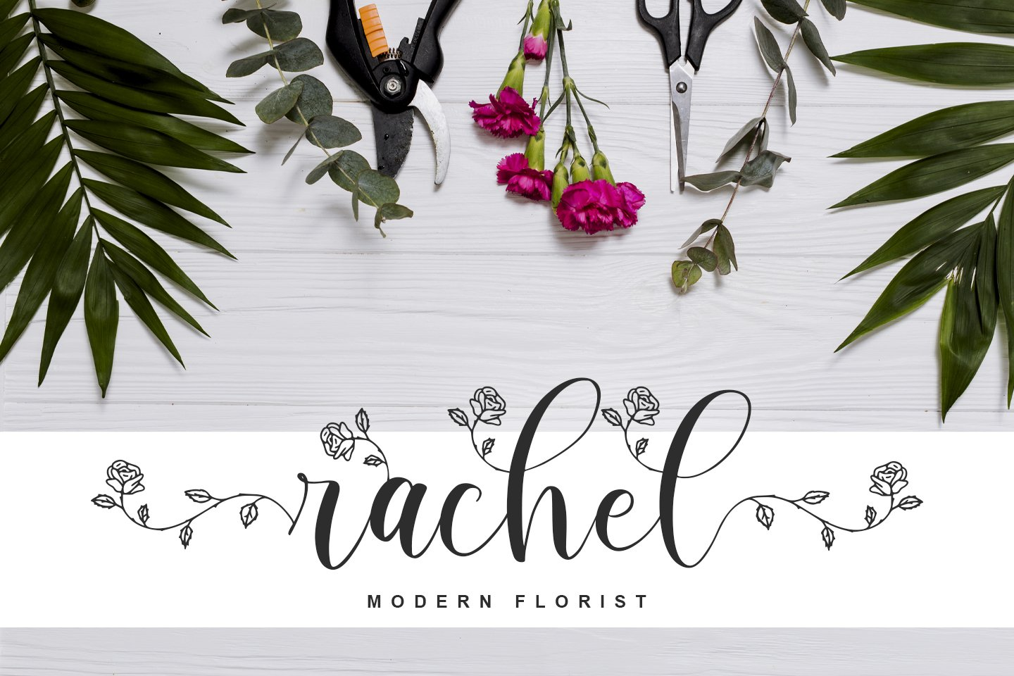 Rhosela -Floral Calligraphy- example image 3