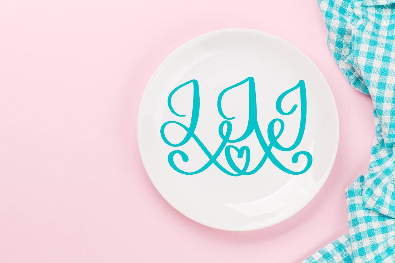 3 Letter Monogram Font example image 3