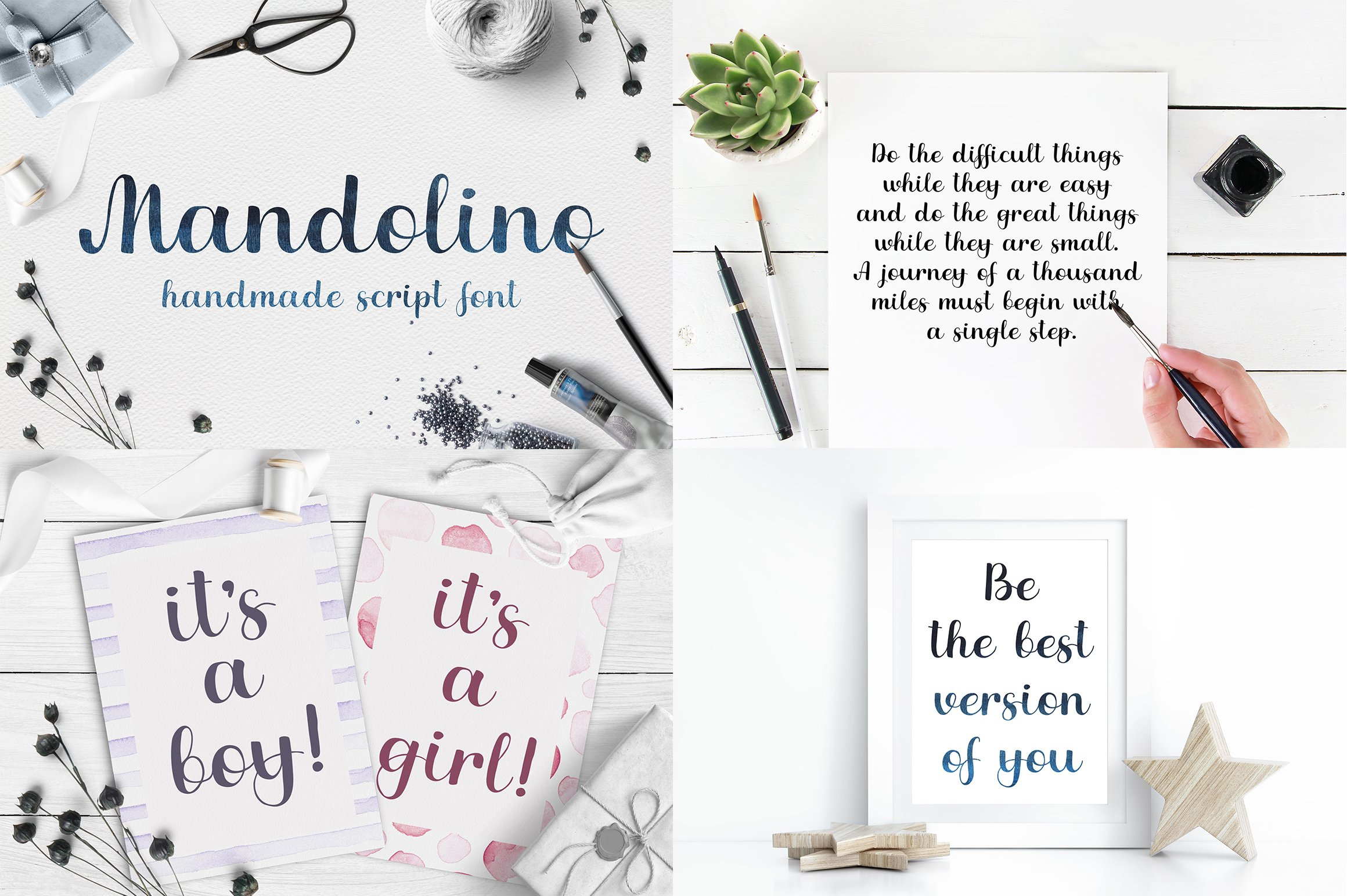 Font bundle - 6 handwritten and calligraphy fonts example image 3