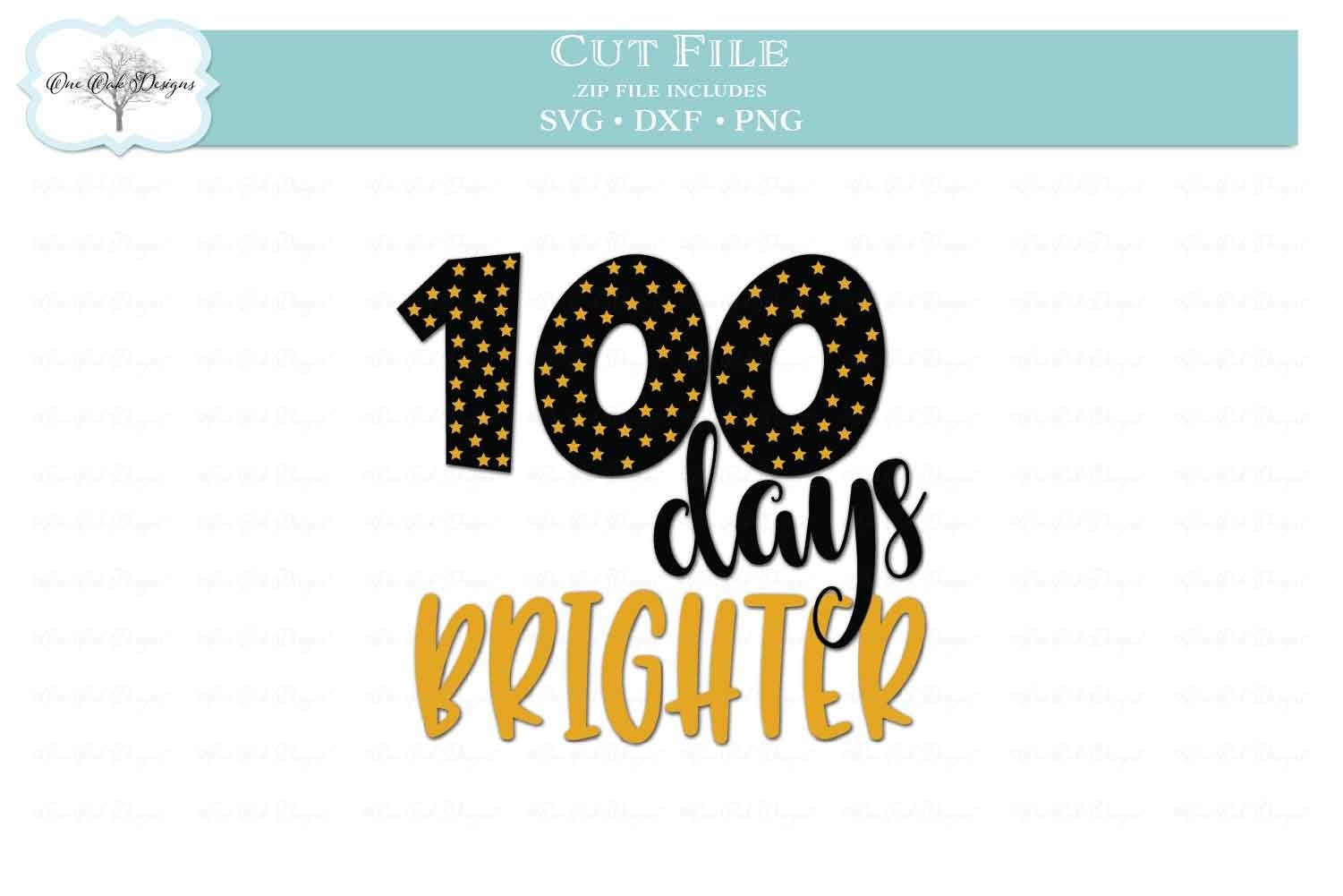 Download 100 Days Brighter For Student With 100 Stars 429887 Cut Files Design Bundles