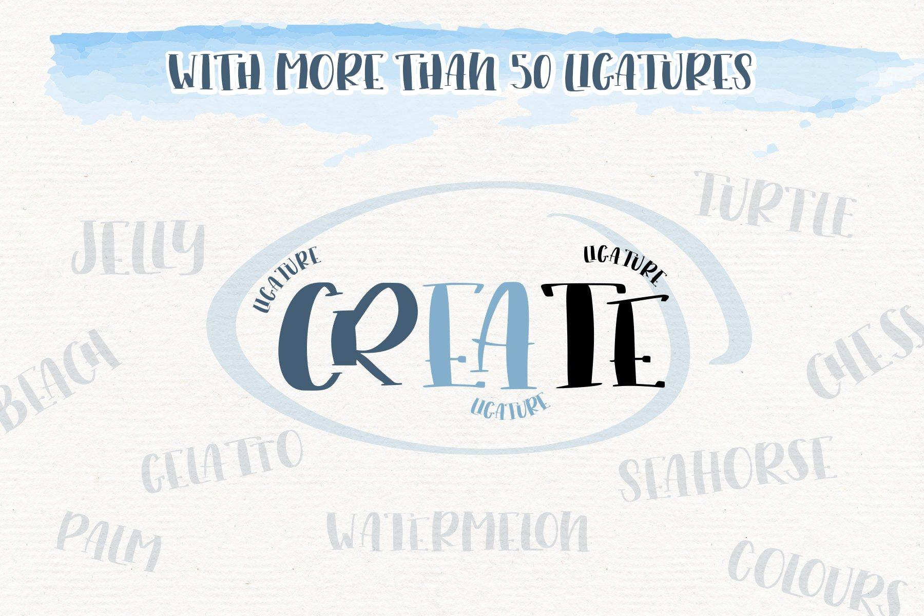 Trés Jolie - Serif Font with Doodles example image 4