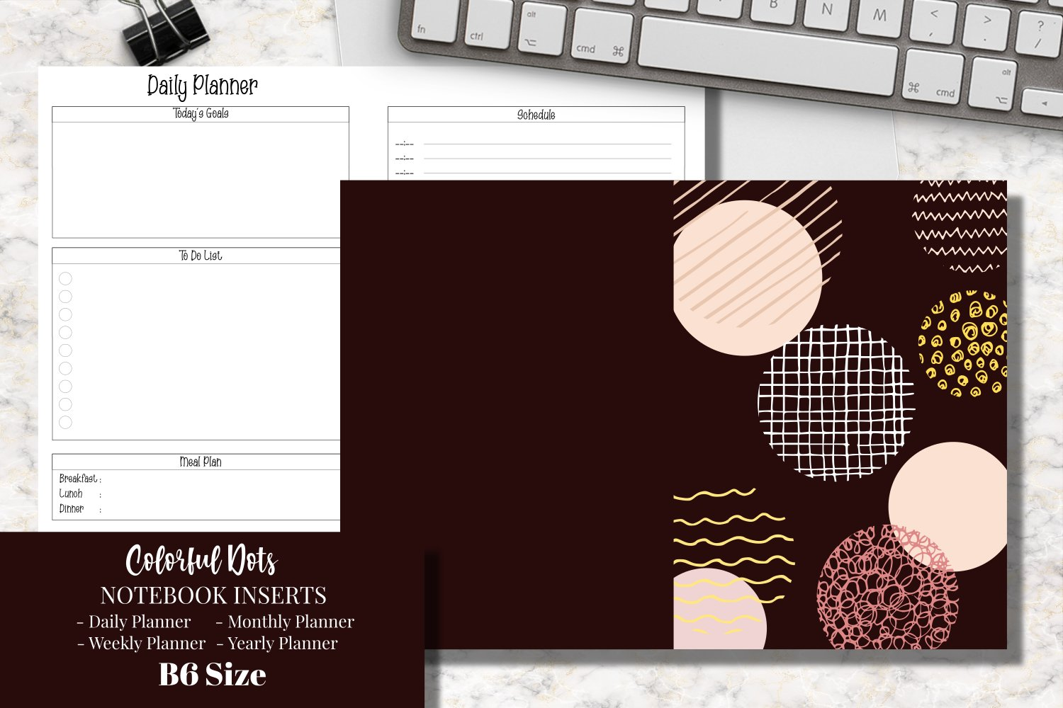 Colorful Dots B6 Size Notebook Inserts Planner example image 1