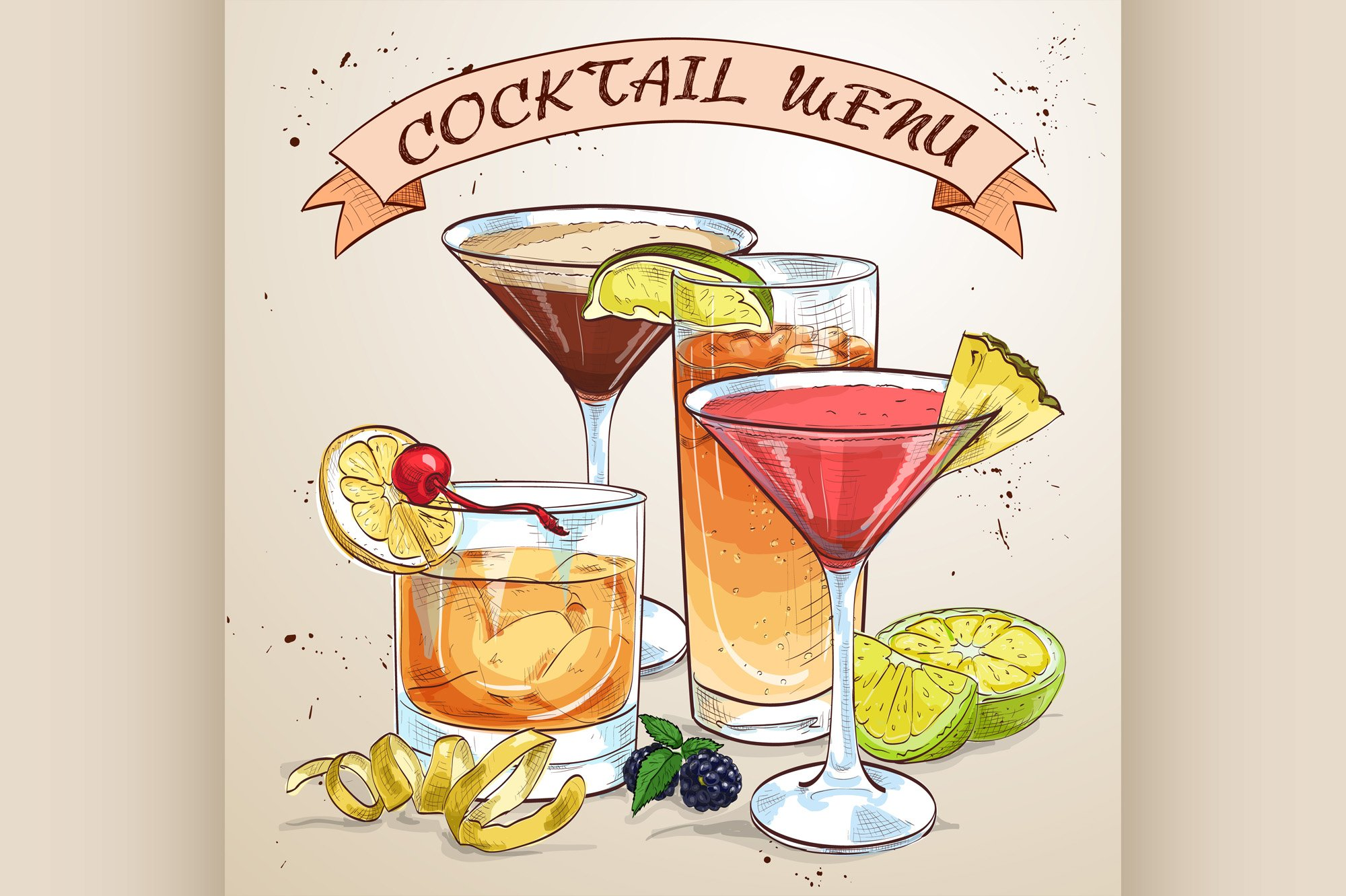 Contemporary Classics Cocktail menu example image 1