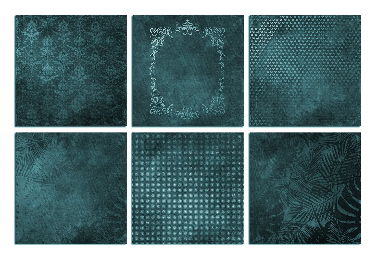 Green and Turquoise Textures example image 3