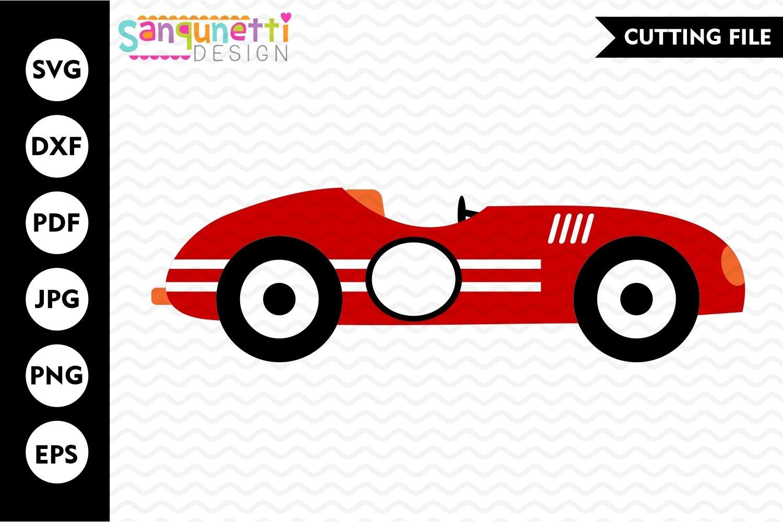 Race car svg, racing cutting file, transportation example image 1