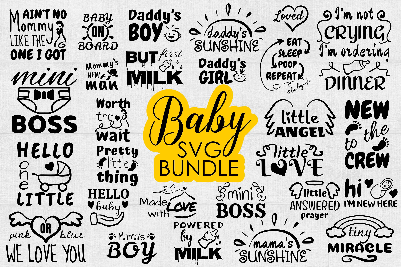Baby Svg Bundle Baby Onesie Funny Quote Svg Cut Files 910383 Cut Files Design Bundles