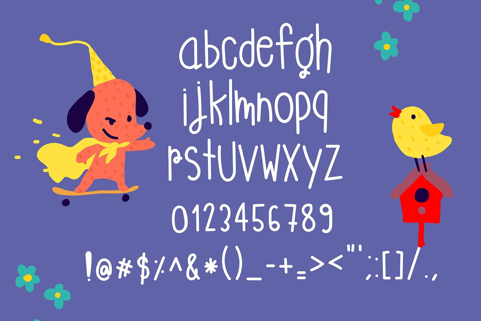 Monster Playground Handwritten- cute kid font Kawaii style! example image 5