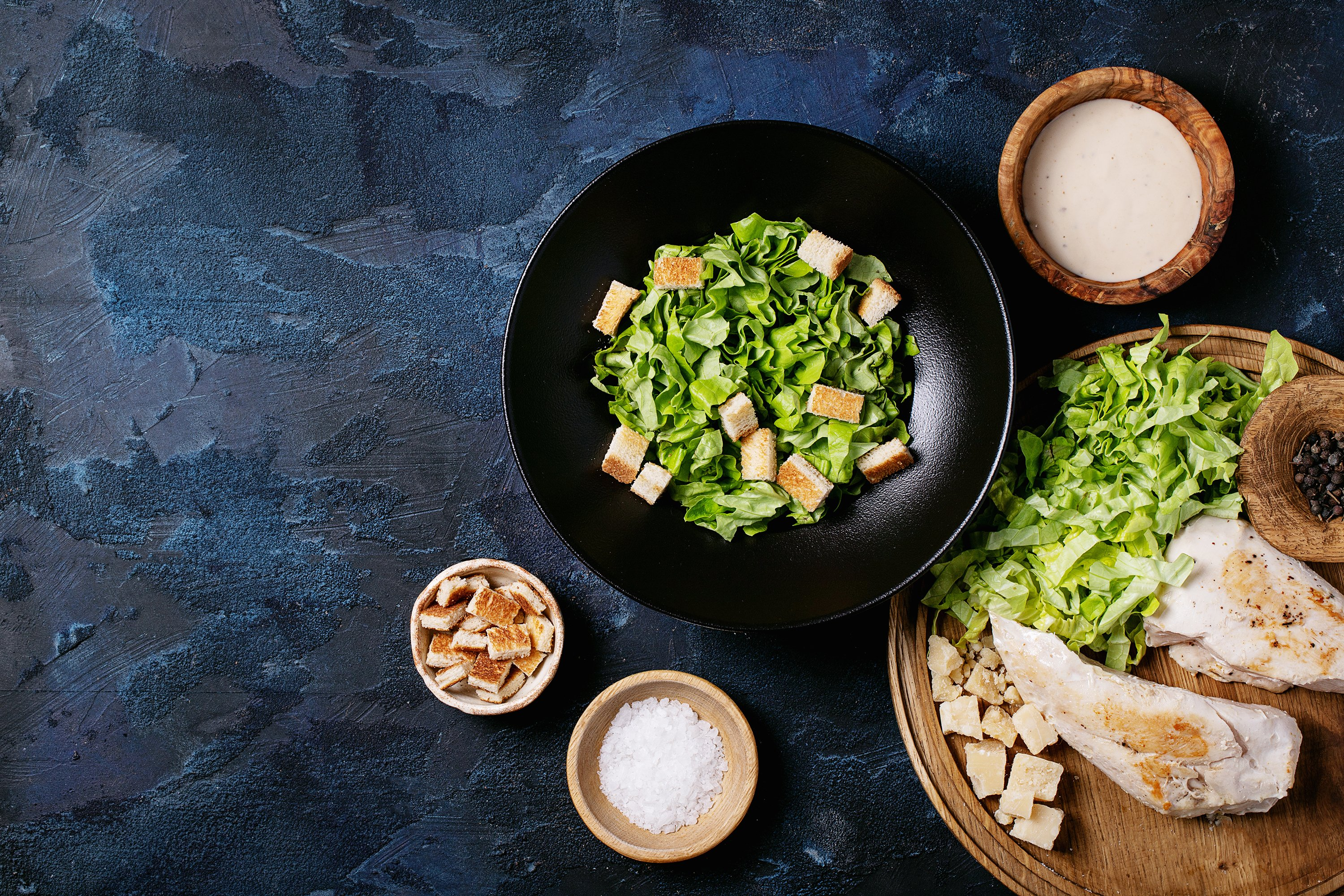 Ingredients for making caesar salad example image 1