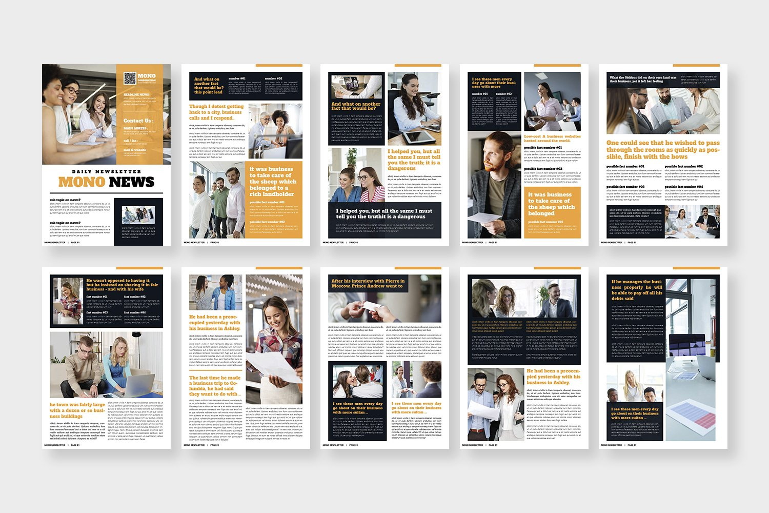 Mono Newsletter Template example image 4
