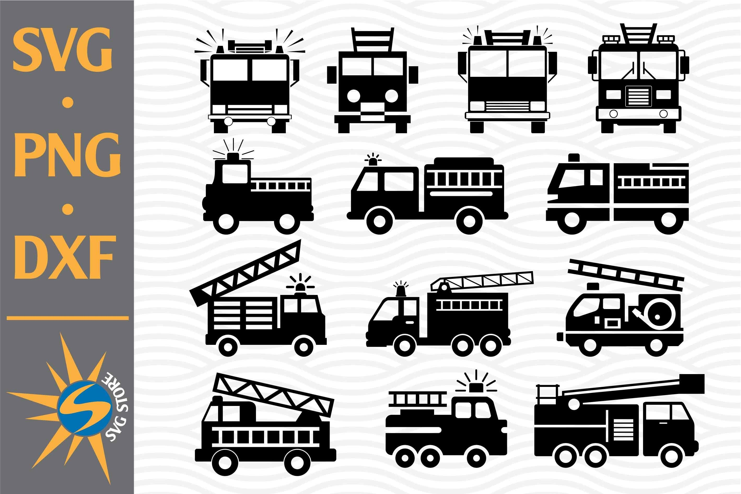 Fire Truck Svg Png Dxf Digital Files Include 758184 Cut Files Design Bundles
