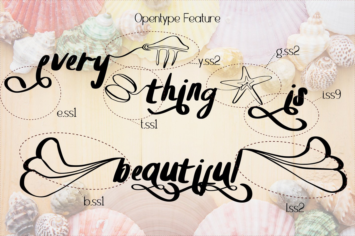Summer Clam Stunning Font example image 4