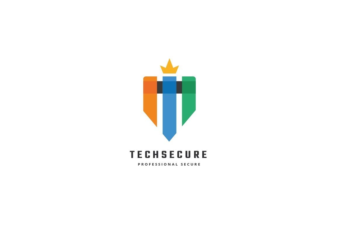 Tech Secure Letter T Logo example image 2